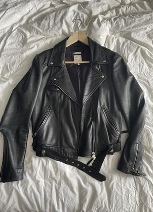 Кожаная новая куртка zara