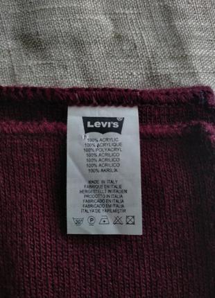 Бордовый шарф от levis3 фото