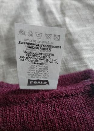 Бордовый шарф от levis4 фото