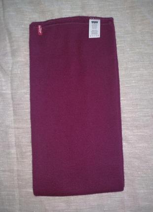 Бордовый шарф от levis2 фото