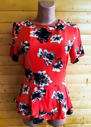 Стильная  блузка в цветочный принт датского бренда премиум класса soaked in luxury.