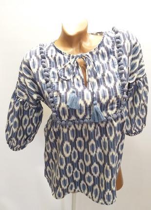 Хлопковая блуза в этно-стиле