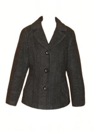 Шерстяное пальто s.oliver, короткое пальто полупальто размер наш 46