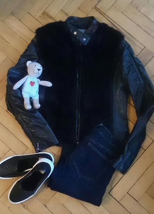 Куртка с мехом stradivarius