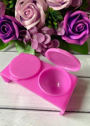 Палитра- контейнер для смешивания красок, двойная с крышкой4 фото