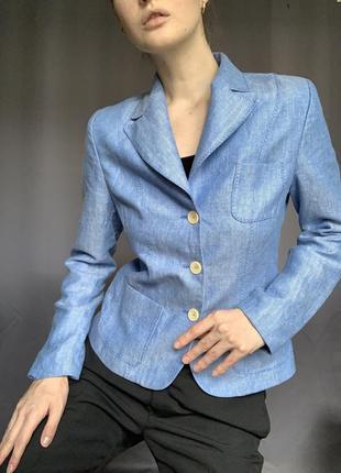 Пиджак голубой жакет