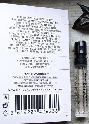 Пробник парфюм воды marc jacobs perfect3 фото