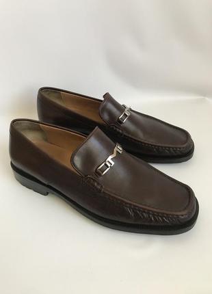 Кожаные туфли, лоферы от bruno magli 45