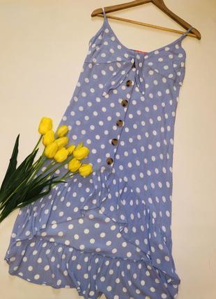 Легкое летнее платье миди