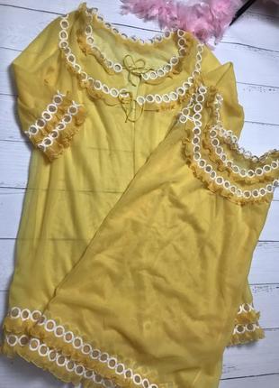 Нейлоновый винтажный ретро комплект в стиле 60 - ых от итальянского бренда velmar.