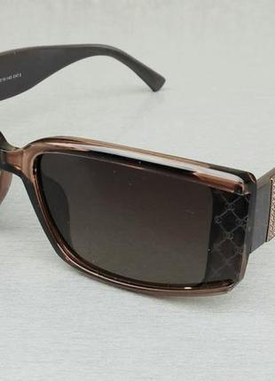 Chanel модные узкие женские солнцезащитные очки коричневые с золотым лого