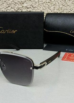 Cartier стильные мужские солнцезащитные очки черные