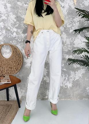 Винтажные белые джинсы винтаж levis 501 made in usa