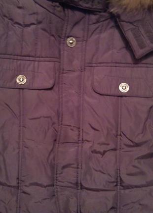 Зимняя куртка на подростка холофайбер рост 1583