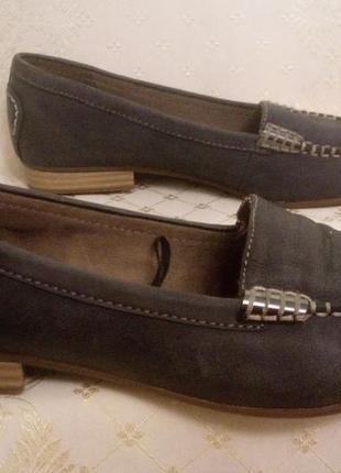 Макасины лоферы кожаные туфли женские tamaris.