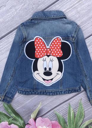 Джинсовая куртка минни маус джинсовая курточка джинсовка джинсовая куртка с рисунком