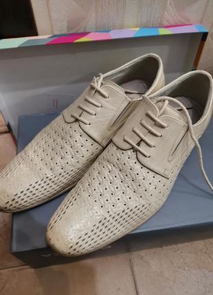Туфли мужские 42 р. светлые