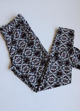 Штаны h&m легкие,брюки в принт