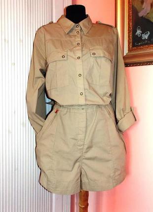 """Стиль милитари - французский крутой комбинезон """"cop.copine"""" цвета-camel"""