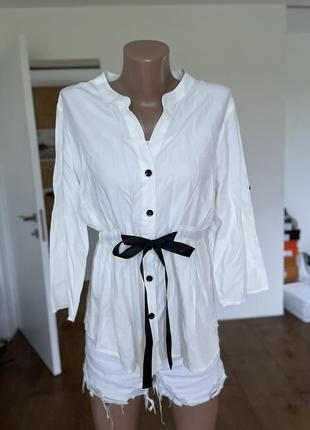 Блуза рубашка с поясом