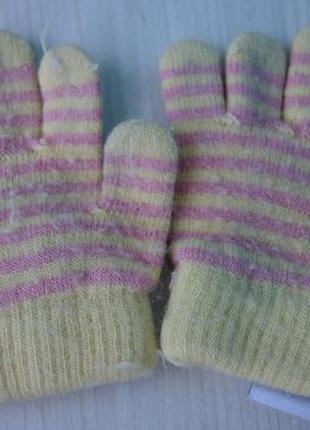 Теплые ангоровые перчатки