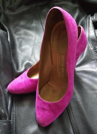 Распродажа!!! шикарные туфли из натуральной замши/ италия/ р36