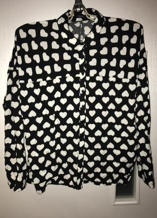 Рубашка в сердечки george 14 р 48-50
