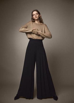 Шикарные широкие брюки со складками палаццо