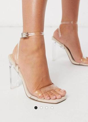 Босоножки на прозрачном каблуке асос asos