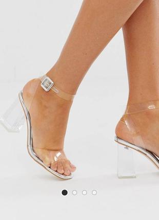 Босоножки на прозрачном каблуке simmi london