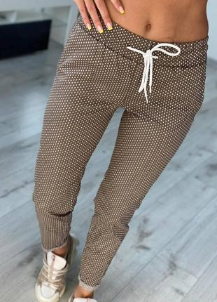 Женские брюки леггинсы коттон