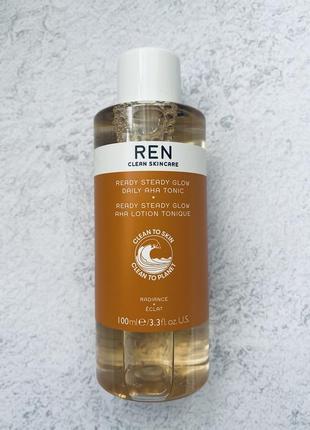 Кислотный тонер для лица ren clean skincare ready steady glow daily aha toner