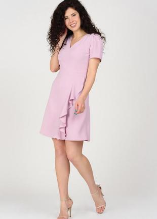 Летнее сиреневое мини-платье | 45087