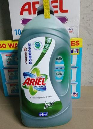 Ariel концентрированный гель для стирки touch of lenor (5,6 л - 90 ст)