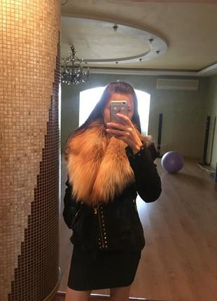 Трендовая куртка из меха пони и лисички