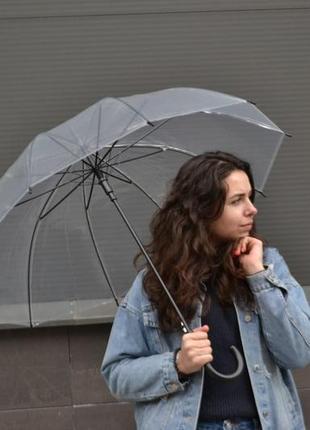 Распродажа! прозрачный зонт для фотосессий / зонтик / черная ручка / парасолька парасоля