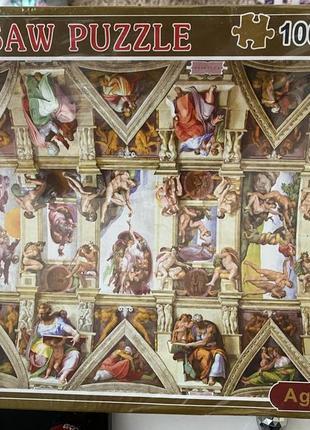 Пазлы на 1000 элементов, микеланджело