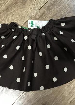 Хлопковая юбочка для малышки benetton 86 размер