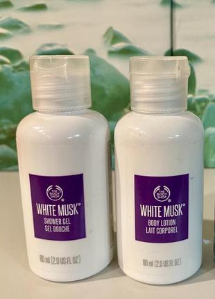 The body shop «white musk» белый мускус набор: молочко, гель