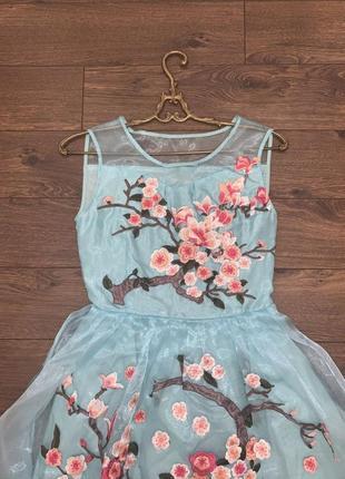 Платье фатиновое с 3d