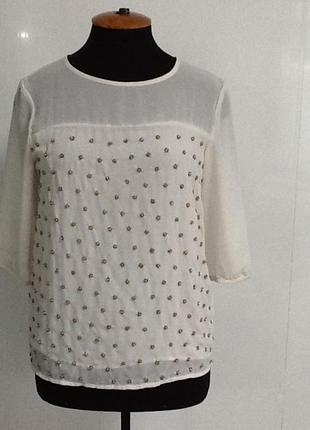 Красивая блузка с бисером m/l