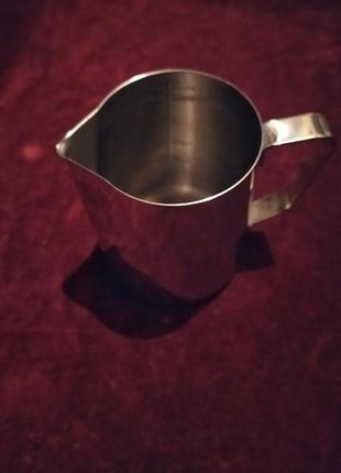 Кружка мерная для молока из немагнитной нержавеющей стали. 350мл.