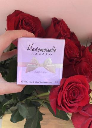 Azzaro mademoiselle leau tres belle 30 ml туалетная вода азара