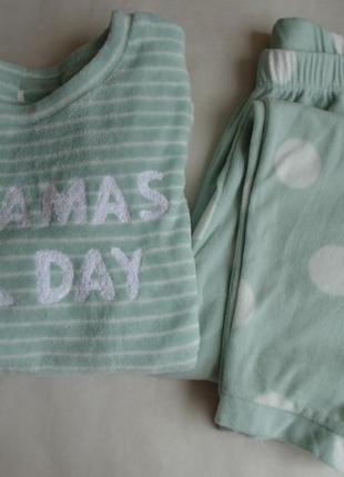 Флисовая пижама м-л primark