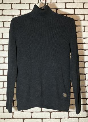 Чёрный свитер с горлом h&m