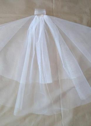 Фата белая свадебная или для девичника, на дівич-вечір