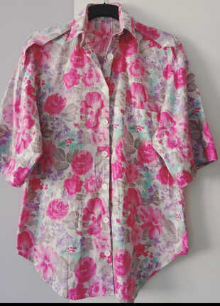 Летняя хлопковая рубашка блуза