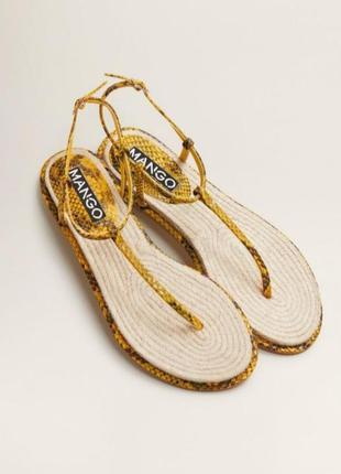 Испанские стильные сандали шлепки босоножки змеиная кожа