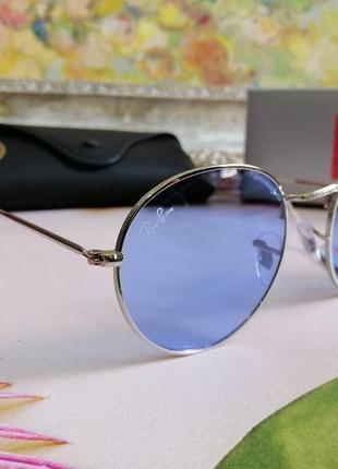 """Стильные солнцезащитные очки """"ray ban"""" небесно - голубого цвета) sale%"""