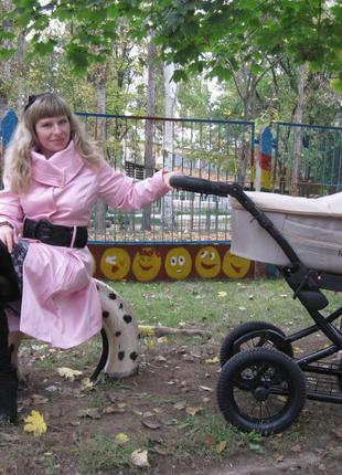 Розовый плащик на весну-осень